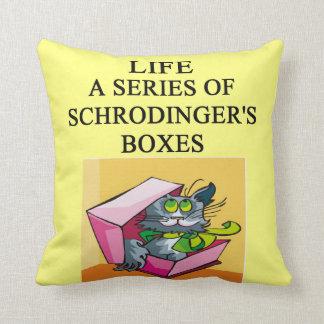 physics joke throw pillows
