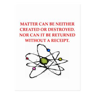 physics joke postcard