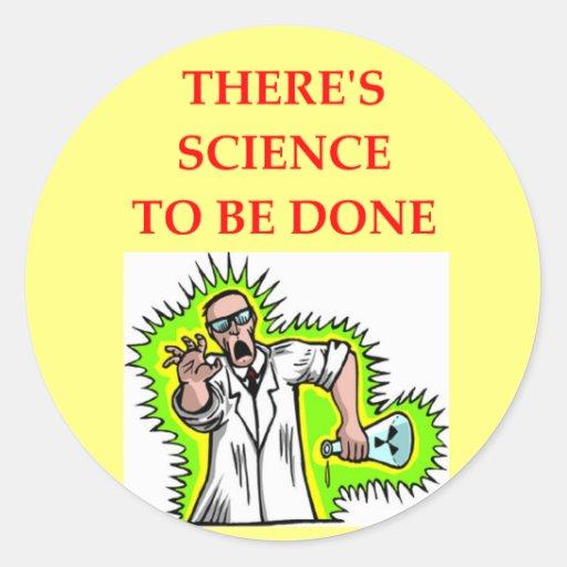 physics joke round sticker