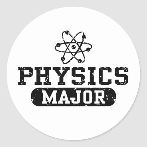 Physics Major Classic Round Sticker