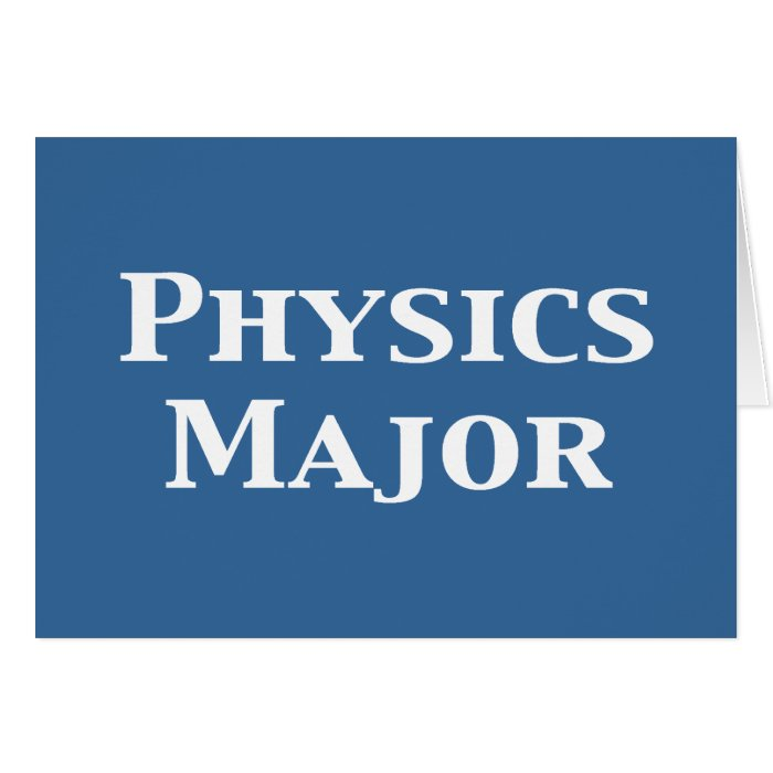 Physics Major Gifts Card