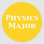 Physics Major Gifts Classic Round Sticker