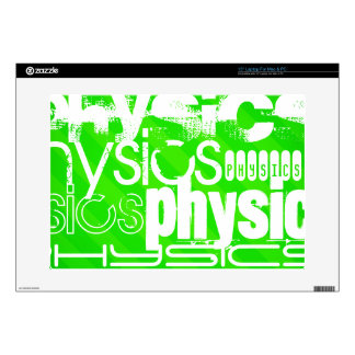 "Physics; Neon Green Stripes 15"" Laptop Decal"