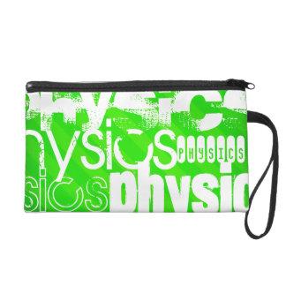 Physics; Neon Green Stripes Wristlet Clutches