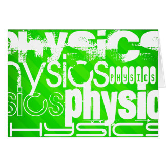 Physics; Neon Green Stripes Stationery Note Card