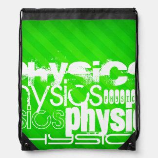 Physics; Neon Green Stripes Backpacks