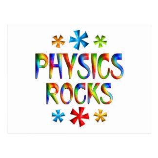 PHYSICS ROCK POSTCARD