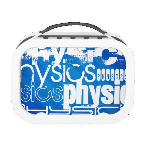 Physics; Royal Blue Stripes Yubo Lunch Box