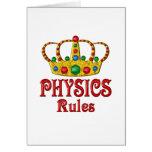 PHYSICS Rules Greeting Card