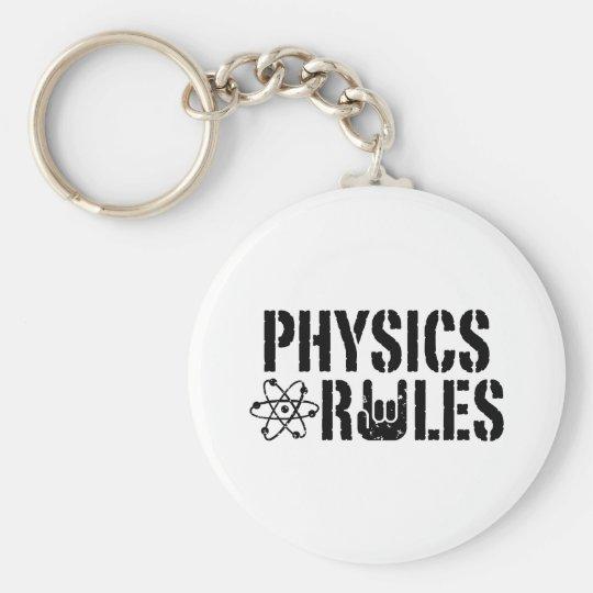 Physics Rules Keychain
