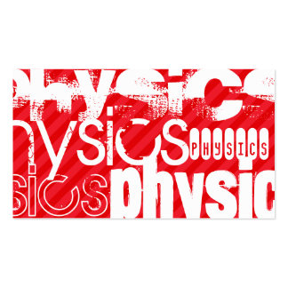 Physics; Scarlet Red Stripes Business Card