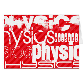 Physics; Scarlet Red Stripes Stationery Note Card