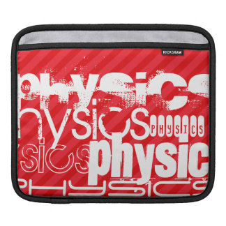 Physics; Scarlet Red Stripes iPad Sleeves