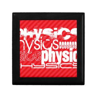 Physics; Scarlet Red Stripes Keepsake Box