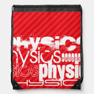 Physics; Scarlet Red Stripes Backpack