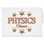 Physics Shines Greeting Cards