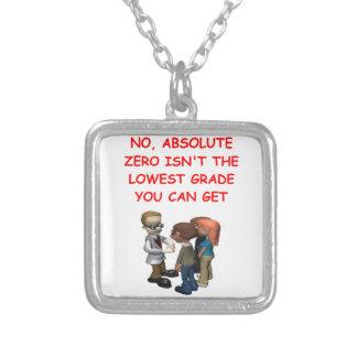 physics square pendant necklace