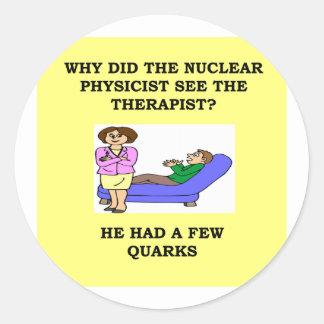 physics round stickers