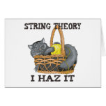 Physics String Theory Cat Greeting Cards