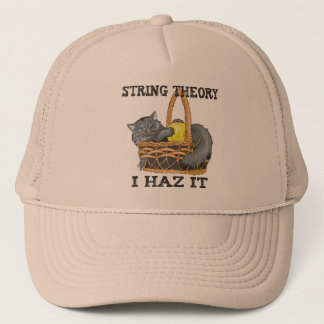 Physics String Theory Cat Trucker Hat