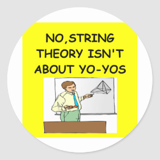 PHYSICS string theory Classic Round Sticker