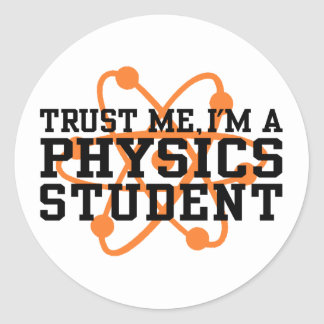 Physics Student Classic Round Sticker