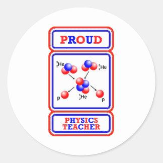 Physics Teacher Classic Round Sticker