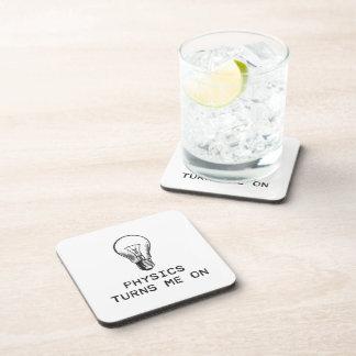 Physics Turns Me On Beverage Coaster