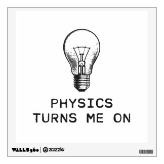 Physics Turns Me On Wall Decal