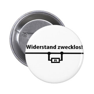 Physik Widerstand zwecklos icon Pinback Button