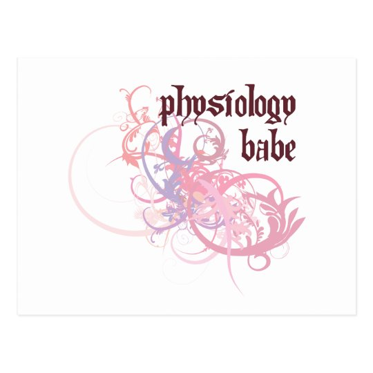 Physiology Babe Postcard