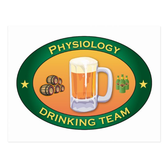 Physiology Drinking Team Postcard