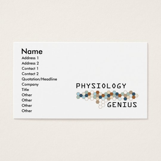 Physiology Genius Business Card