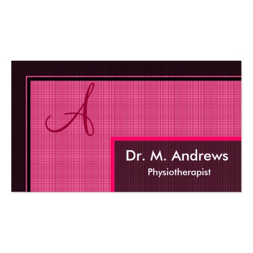 Physiotherapist Business Card - Monogram