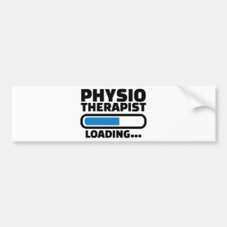Physiotherapist loading bumper sticker