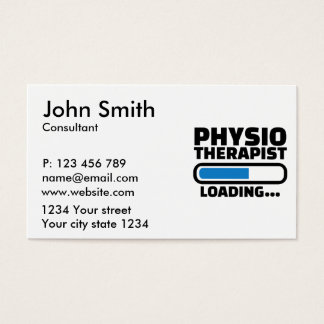 Physiotherapist loading business card