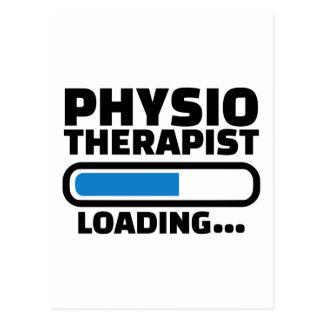 Physiotherapist loading postcard