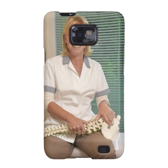Physiotherapist with model of spine samsung galaxy SII case