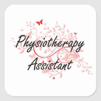 Physiotherapy Assistant Artistic Job Design with B Square Sticker
