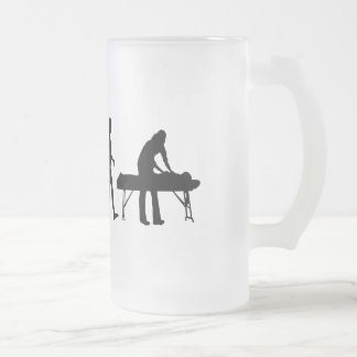 physiotherapy Sports medicine gifts Frosted Glass Beer Mug