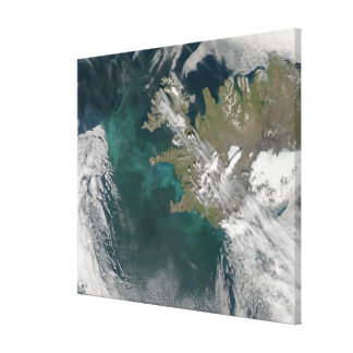 Phytoplankton bloom in the North Atlantic Ocean Stretched Canvas Prints