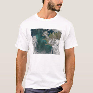 Phytoplankton bloom in the North Atlantic Ocean T-Shirt