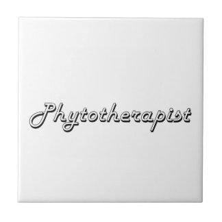 Phytotherapist Classic Job Design Small Square Tile