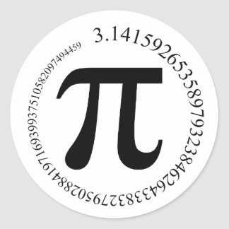 Pi (π) Day Classic Round Sticker