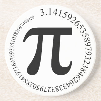 Pi (π) Day Drink Coasters