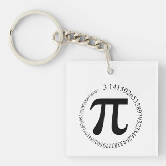 Pi (π) Day Double-Sided Square Acrylic Keychain