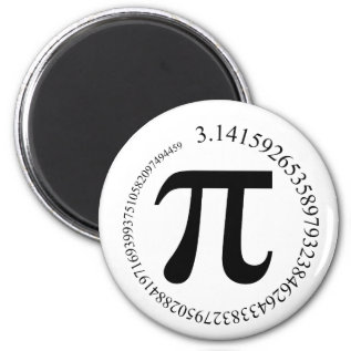 Pi (π) Day Magnet at Zazzle