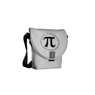 Pi (π) Day Courier Bags