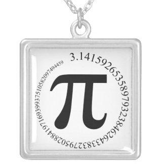 Pi (π) Day Square Pendant Necklace