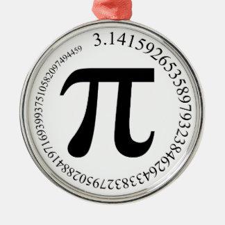Pi (π) Day Christmas Tree Ornaments